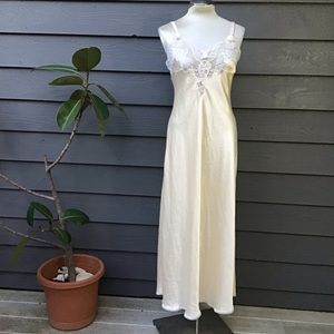 vintage CHRISTIAN DIOR satin nightgown S